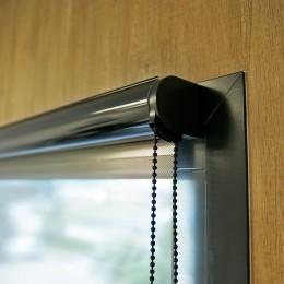 STORE ENROULEUR film solaire anti regard et éblouissement Argent foncé - Rejet thermique 92% - Mécanisme Noir - Avec Coffre