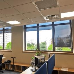 STORE ENROULEUR film solaire anti regard et éblouissement Argent foncé - Rejet thermique 92% - Mécanisme Gris - Sans Coffre