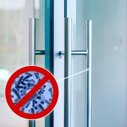 Film antibactérien pour poignées de portes extérieures - certifié contre la Covid-19 - 15 cm x 50 cm