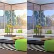 Filtre solaire transparent anti infrarouge sans effet miroir rejet total énergie solaire 49% - 40 microns