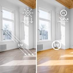 Film de protection vitrage anti uv incolore - 50 microns