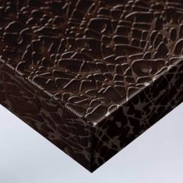 Film adhésif pour meubles et pour mur aspect tissus craquelé chocolat