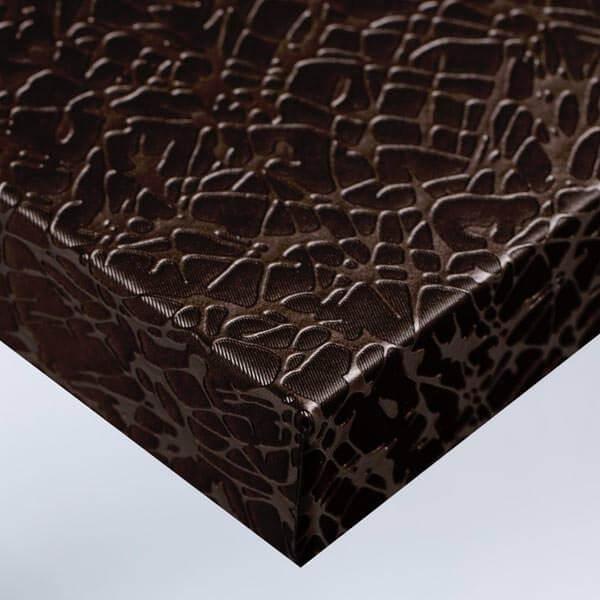 Tissu craquelé - Chocolat