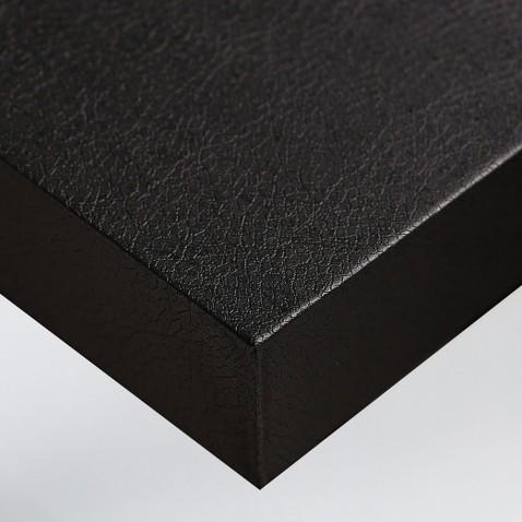 Adhésif PVC imitation cuir noir pour décoration bureau