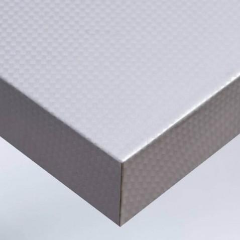 Papier adhésif pour meuble ou pour mur look métallisé aspect carbone argent