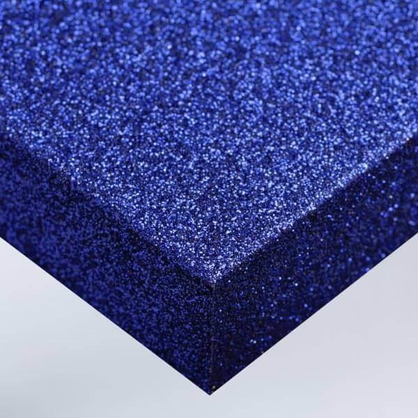 Bleu pailleté