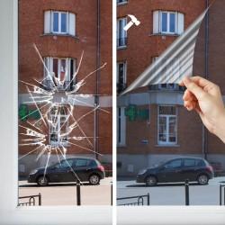 Film sécurité solaire pose extérieure 125 microns - Rejet de chaleur 87%