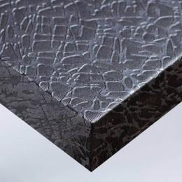 Décoration murale film adhésif tissus craquelé gris argenté