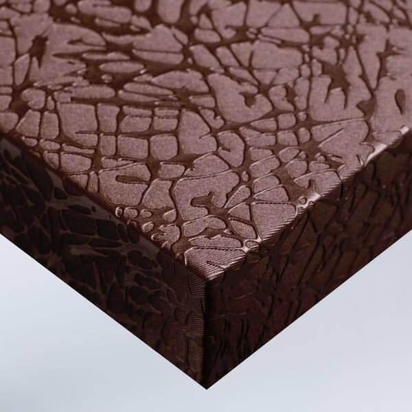 Tissu craquelé - Cuivre