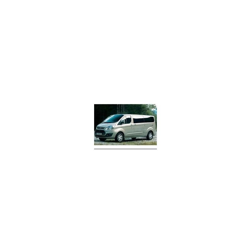 Kit film solaire Ford Custom Transit (1) LONG 4 portes (depuis 2014) 1 porte latérale, vitres fixes et hayon