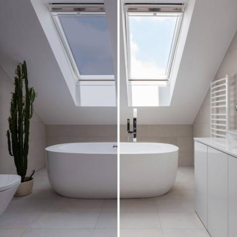 Film solaire réfléchissant Argent foncé pour fenetre de toit pose exterieure - rejet solaire 85%