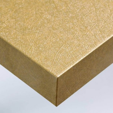 Film adhésif fibré or décoration murale design ou pour relooker un meuble