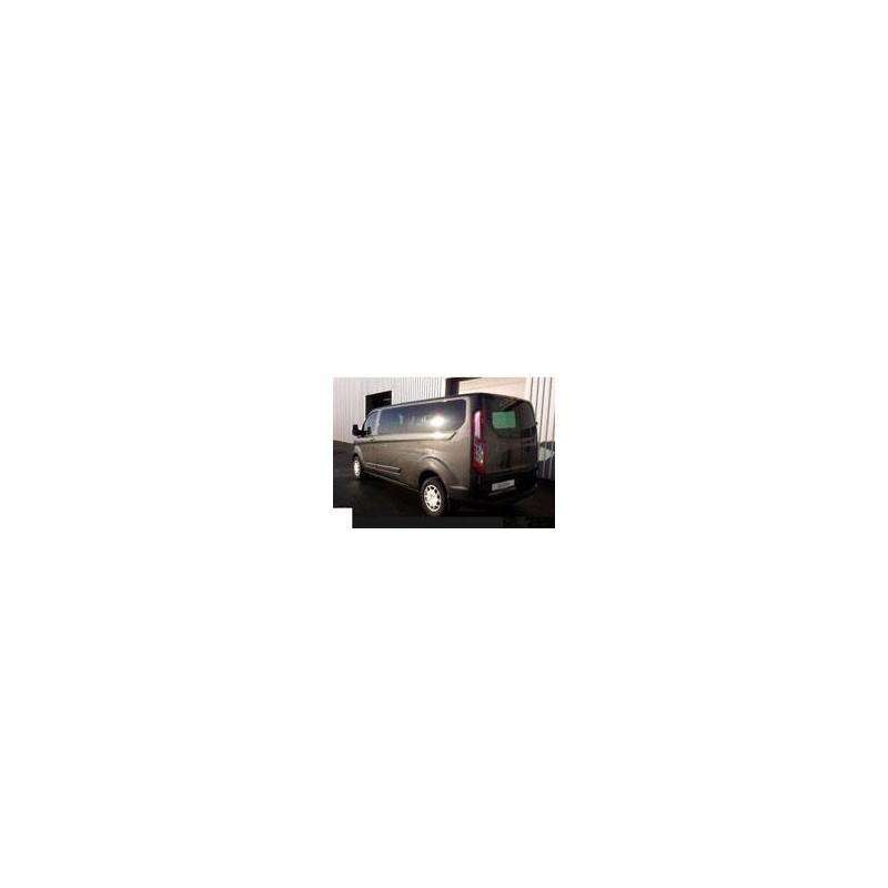 Kit film solaire Ford Custom Transit (1) Long 4 portes (depuis 2014) 1 porte latérale, vitres ouvrantes et hayon