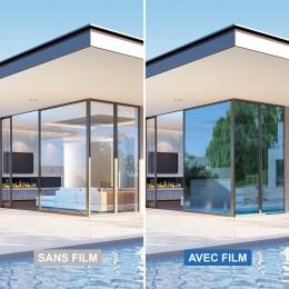 Film anti chaleur repositionnable pour double vitrage - Bleu