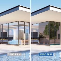 Film anti chaleur repositionnable pour double vitrage - Bronze