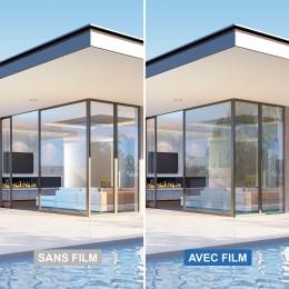 Film solaire pour double vitrage bon compromis - gris fumé clair