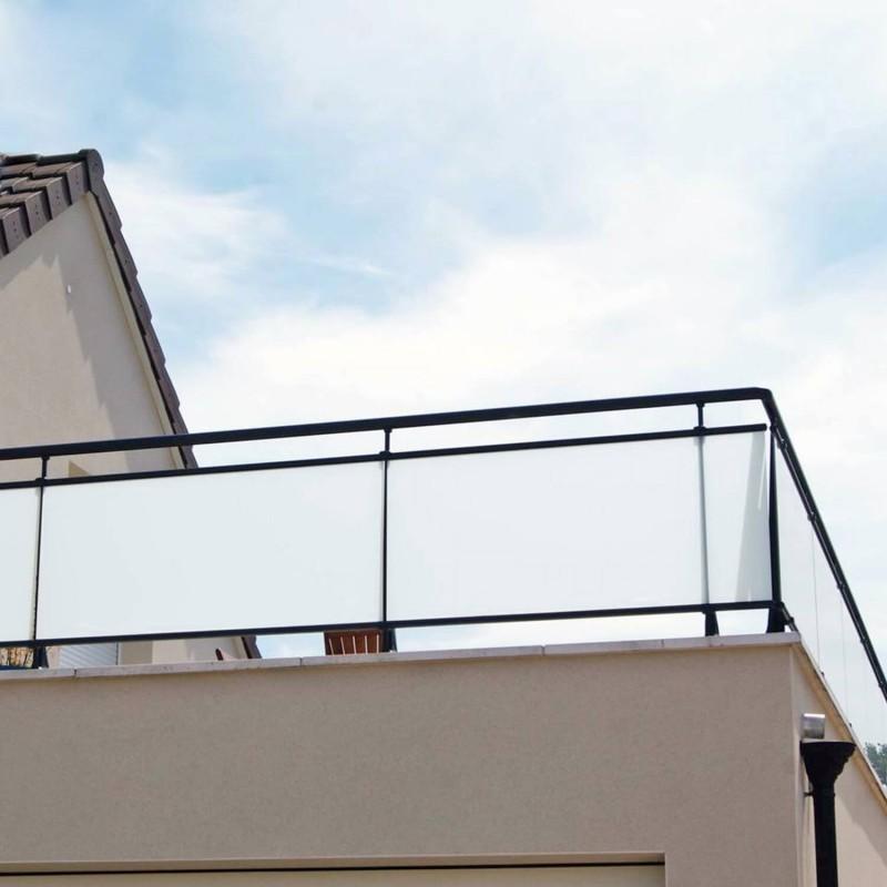 Film opalescent Brise vue fenêtre pour pose extérieure - 75 microns
