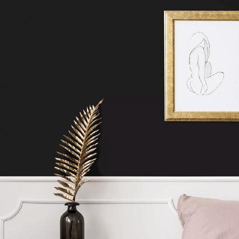 Papier peint autocollant noir mat