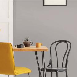 Papier peint autocollant gris crème mat