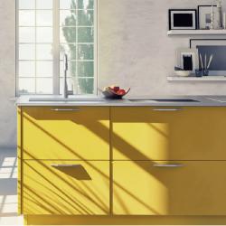 Papier peint autocollant jaune mat
