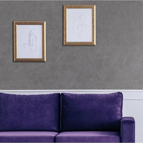 Papier peint adhésif effet enduit en béton gris foncé