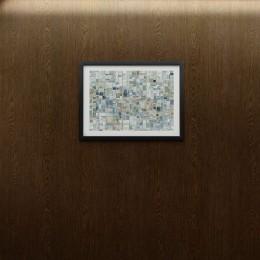 Papier peint autocollant imitation bois de chêne à lignes brunes