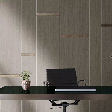 Revêtement mural effet bois brun clair