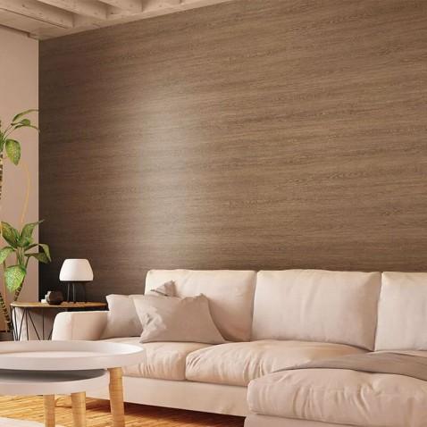 Vinyle adhésif imitation bois de chêne foncé structuré