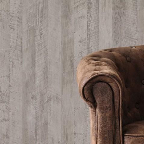 Revêtement mural effet bois gris clair