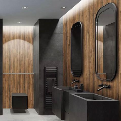 Revêtement mural effet parquet de bois