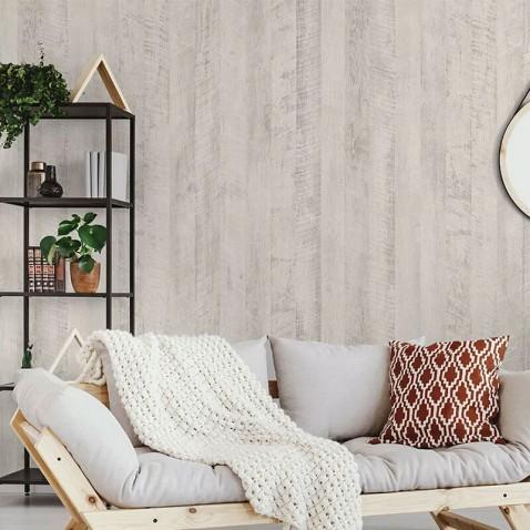 Papier adhésif imitation panneaux de bois clair