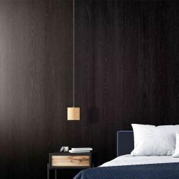 Papier peint adhésif effet bois noir