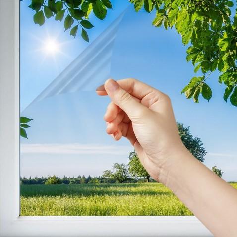 Filtre solaire anti chaleur pose extérieure clair sans effet miroir rejet chaleur 48%