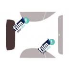 Kit film solaire prédécoupé Fiat 500 Cabriolet (Depuis 2009)