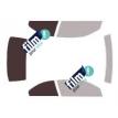 Kit film solaire Bmw Serie 3 (5) CC Cabriolet 2 portes (2007 - 2014)