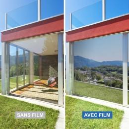 Film miroir sans tain Sécurité renforcée Argent - 125 microns