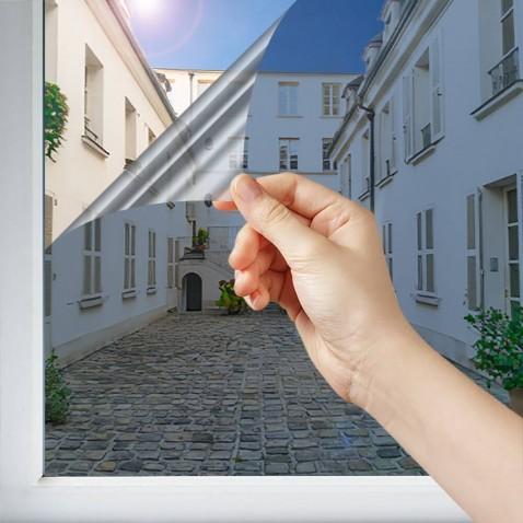 Filtre miroir intimité pour vitrage intérieur Bleu nuit foncé - 50 microns