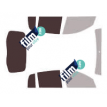 Kit film solaire Dacia Sandero (1) Stepway 5 portes (2009 - 2013)
