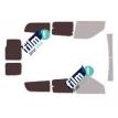 Kit film solaire Fiat Doblo (2) Maxi 6 portes (depuis 2009) vitres entrouvrante et 2 portes arrières