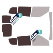 Kit film solaire Fiat Doblo (2) 6 portes (depuis 2009) vitres descendantes et 2 portes arrières