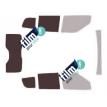 Kit film solaire Fiat Doblo (2) 5 portes (depuis 2009) vitres descendantes et hayon