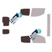 Kit film solaire Fiat Fiorino (2) Qubo Utilitaire 5 portes (depuis 2008) 2 portes arrières