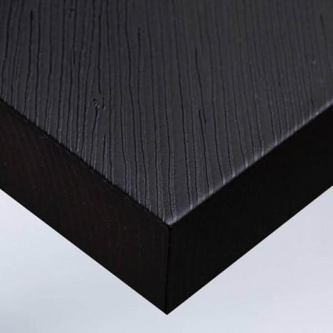 Papier adhésif meuble aspect bois noir ou revêtement mural original et résistant
