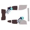 Kit film solaire Fiat Qubo (1) Fiorino 5 portes (depuis 2008) vitré hayon