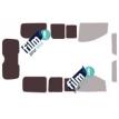 Kit film solaire Fiat Scudo (2) Court 4 portes (depuis 2007) avec hayon
