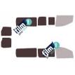Kit film solaire Fiat Scudo (2) Long 5 portes (depuis 2007) avec 2 portes arrières et essuie-glaces
