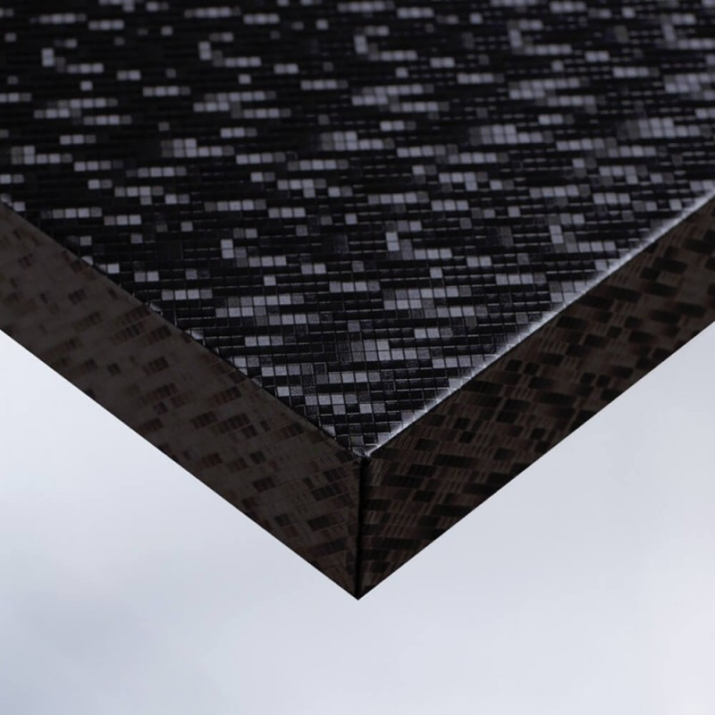 Papier vinyle adhésif Noir à motif Petits Carreaux