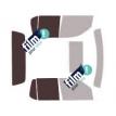 Kit film solaire Ford Explorer (4) Sport Trac Pick-up 4 portes (2006 - 2012)
