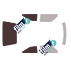 Kit film solaire prédécoupé Ford C-MAX 5 portes (Depuis 2011)