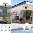Film solaire anti chaleur bronze simple vitrage - rejet total énergie solaire 76%
